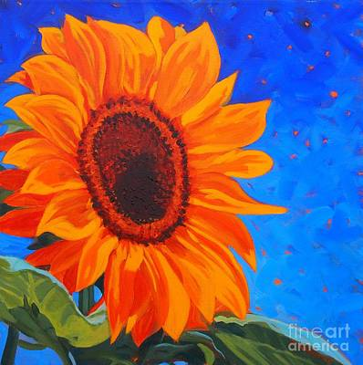Painting - Sunflower Glow by Janet McDonald