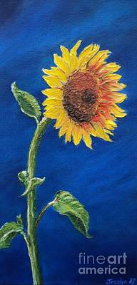 Painting - Sunflower In The Light by Jesslyn Fraser