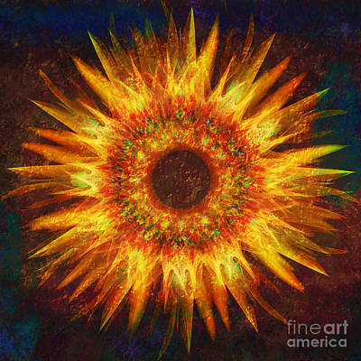 Digital Sunflower Digital Art - Sunflower by Klara Acel
