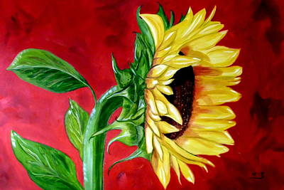 Sunflower Sunshine Art Print by Maria Soto Robbins