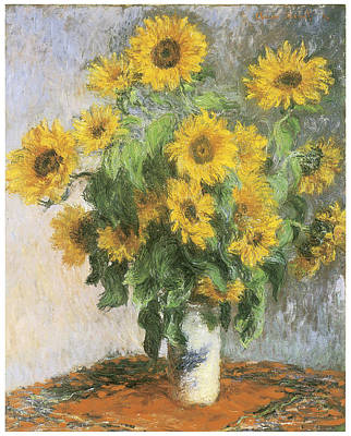 Sunflower Painting - Sunflowers by Claude Monet