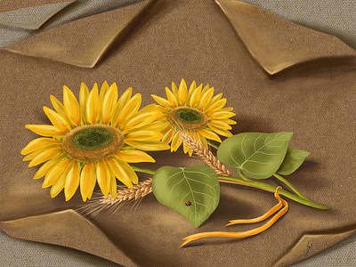 Sunflower Art Painting - Sunflowers by Veronica Minozzi