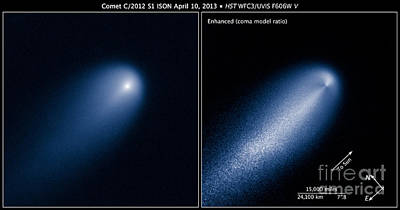 Heavenly Body Photograph - Sungrazing Comet Ison, C2012 S1 by Science Source