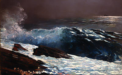 Sunlight On The Coast Art Print by Winslow Homer