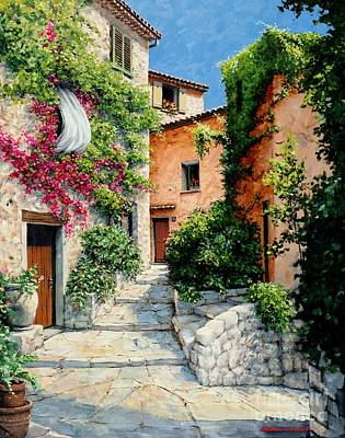 Art Print featuring the painting Sunny Walkway by Michael Swanson