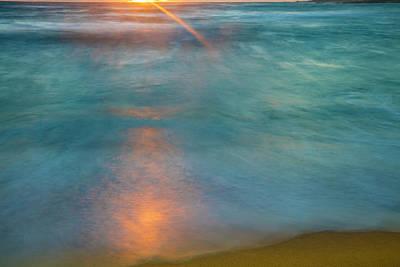 Photograph - Sunrise Above Kawaaloa Bay On Molokais by Richard A Cooke Iii.