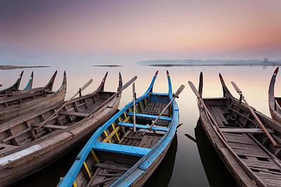 Burma Photograph - Sunrise, Amarapura, Mandalay, Burma by Peter Adams