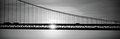 Sunrise Bay Bridge San Francisco Ca Usa Art Print by Panoramic Images