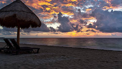 Photograph - Sunrise In Cancun Mexico by Craig Bowman