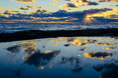 Sunrise Lake Michigan September 14th 2013 006 Art Print