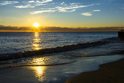 Sunrise Lake Michigan September 14th 2013 040 Art Print