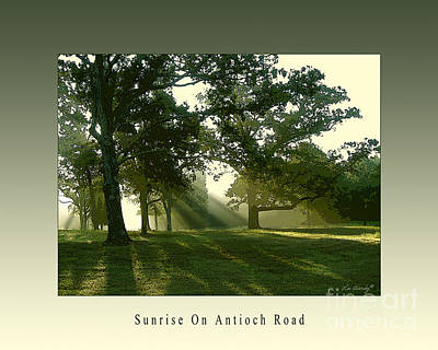 Photograph - Sunrise On Antioch Road by Lee Owenby