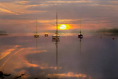 Silver Turquoise Photograph - Sunrise Over Lake Ullswater by Adrian Campfield