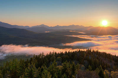Photograph - Sunrise Over The Adirondack High Peaks by Panoramic Images