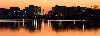 Photograph - Sunrise Over The Capitol-2 by Karen Saunders