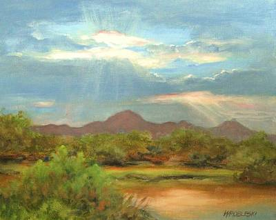 Painting - Sunrise by Peggy Wrobleski