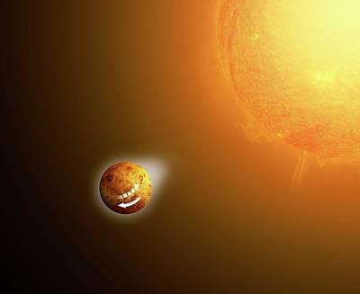 Sun's Gravitational Pull On Venus Art Print by Mikkel Juul Jensen