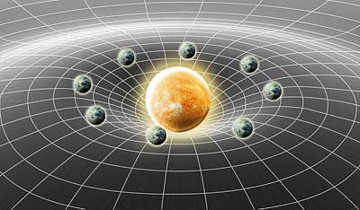 Photograph - Suns Gravity Well, Illustration by Spencer Sutton