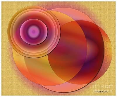 Art Print featuring the digital art Sunsational by Iris Gelbart