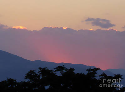 Art Print featuring the photograph Sunset 2 by Ze  Di
