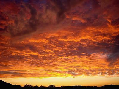 Sunset Ablaze Art Print by James Hammen