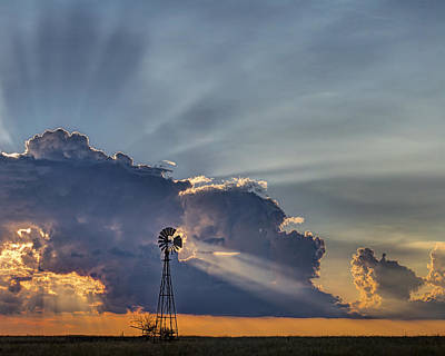 Photograph - Sunset And Windmill by Rob Graham