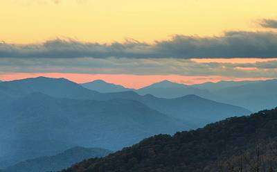 Sunset At Blue Ridge Parkway Art Print by Dan Sproul