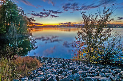 Photograph - Sunset At Lake Wylie by Alex Grichenko