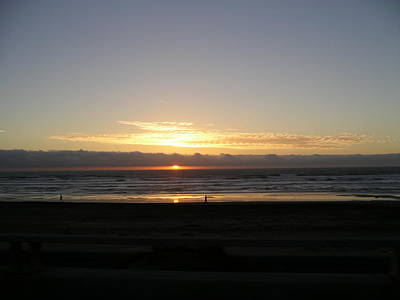 Art Print featuring the photograph Sunset At Ocean Beach  by Cynthia Marcopulos
