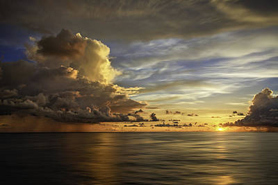 Photograph - Sunset At Sea by Maria Coulson