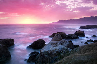 Sunset At Shelter Cove Art Print by Chris Frost