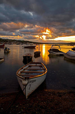 Sunset At Teignmouth Art Print
