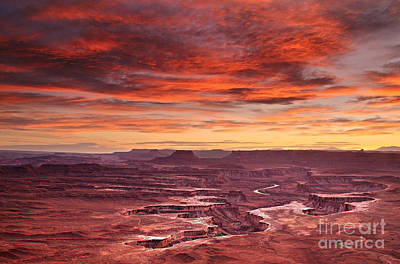 Photograph - Sunset At The Green River Overlook by Roman Kurywczak