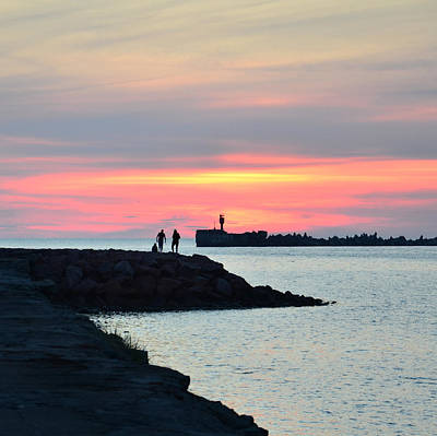 Photograph - Sunset At The Pier by Gynt