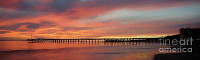 Photograph - Sunset At Ventura Pier  by Dan Friend