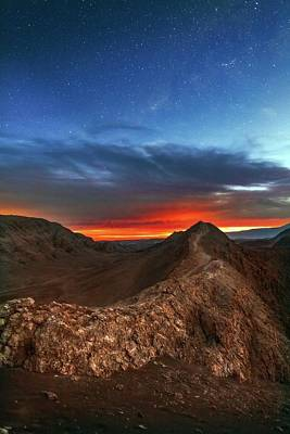 Valley Of The Moon Photograph - Sunset by Babak Tafreshi