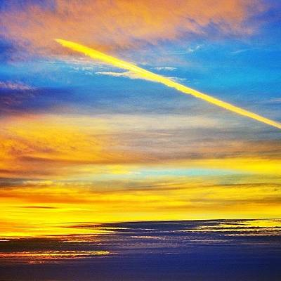 Jet Photograph - Californian Sunset by Freya Doney