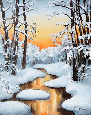 Painting - Sunset Creek by Inese Poga