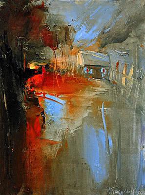 Painting - Sunset by David Figielek