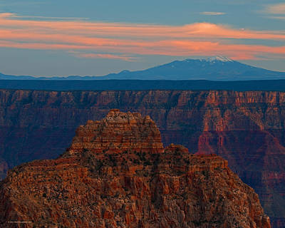 Photograph - Sunset Grand Canyon Cape Royal San Franciso Peaks by Schwartz Nature Images