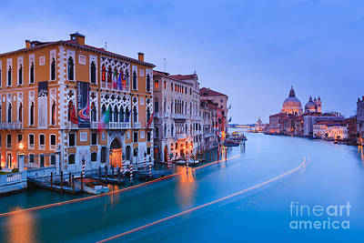 Accademia Photograph - Sunset In Venice by Henk Meijer Photography