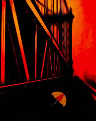 De Stijl Digital Art - Sunset by Jack Zulli