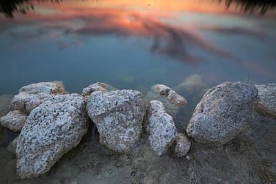 Photograph - Sunset On Lake by Byron Jorjorian