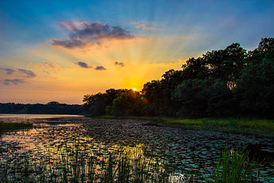 Photograph - Sunset On Lake Masterman by Adam Mateo Fierro