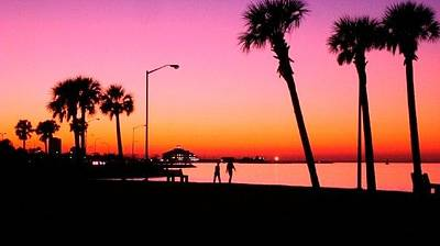 Photograph - Sunset On Lake Pontchartrain by Deborah Lacoste