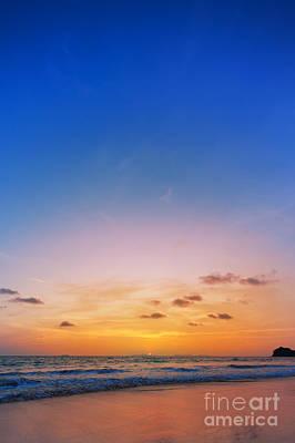 Island Light Photograph - Sunset On Phiphi Island by Atiketta Sangasaeng