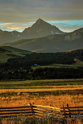 Sunset On San Juan Mountains, Colorado Art Print
