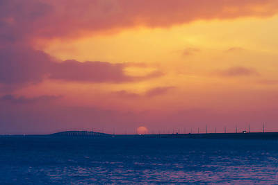 Photograph - Sunset Over 7 Mile Bridge  by Scott Meyer