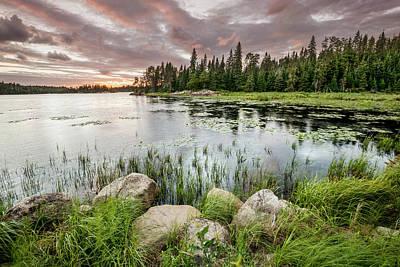 Sunset Over A Pond  Thunder Bay Art Print