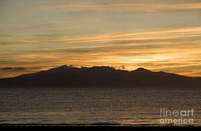 Europe Photograph - Sunset Over Arran by Liz Leyden